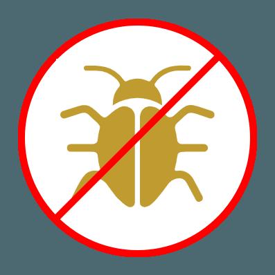 no bugs bug icon with slash across it