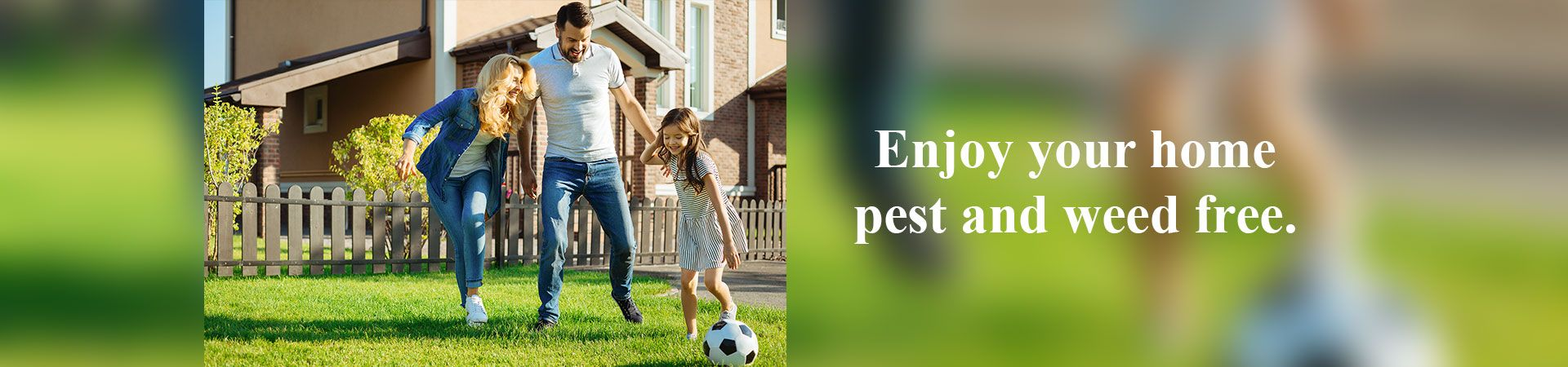 Enjoy your home pest and weed free